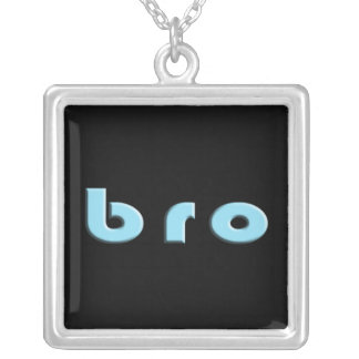 Bro for a Brother Silver Plated Necklace
