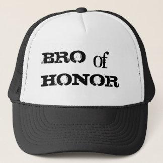 Bro of honor humor groomsman black hat