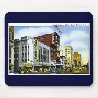 Broad Street at Military Park, Newark, New Jersey Mouse Pad
