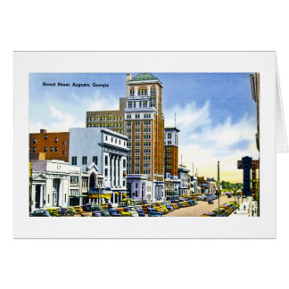 Broad Street, Augusta, Georgia Card