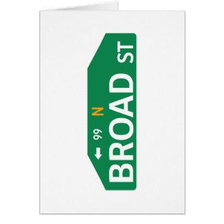 Broad Street, Philadelphia, PA Street Sign Card