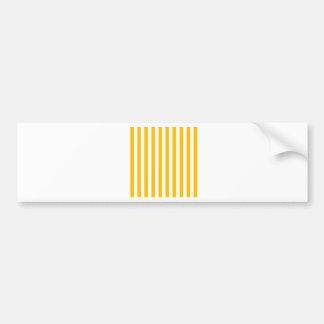 Broad Stripes - White and Amber Bumper Sticker