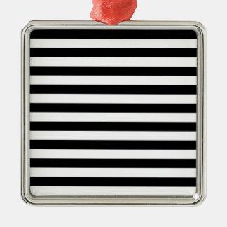 Broad Stripes - White and Black Ornament