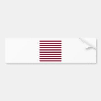 Broad Stripes - White and Burgundy Bumper Sticker