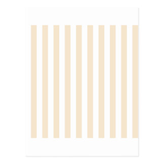 Broad Stripes - White and Champagne Postcard