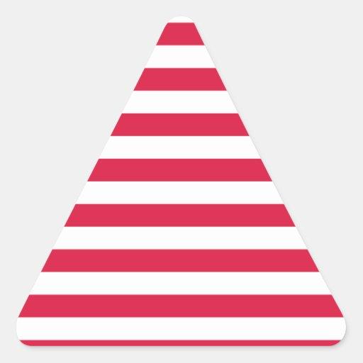 Broad Stripes - White and Crimson Stickers