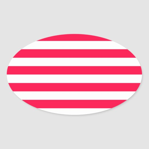 Broad Stripes - White and Electric Crimson Stickers
