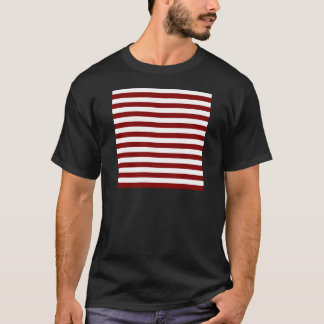 Broad Stripes - White and Maroon T-Shirt
