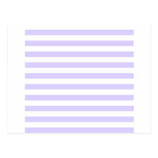 Broad Stripes - White and Pale Lavender Postcard