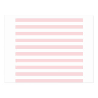 Broad Stripes - White and Pale Pink Postcard