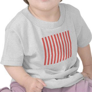 Broad Stripes - White and Pastel Red Tee Shirt