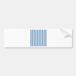 Broad Stripes - White and Steel Blue Bumper Stickers