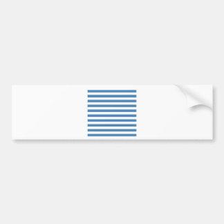Broad Stripes - White and Steel Blue Bumper Sticker