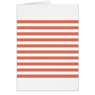 Broad Stripes - White and Terra Cotta Card