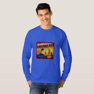 Broadcast Radio Orange Crate Art T-Shirt