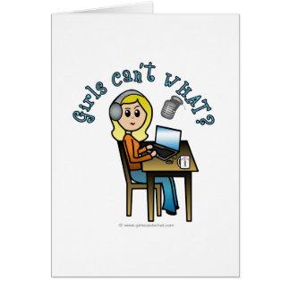 Broadcaster (Blonde) Greeting Card