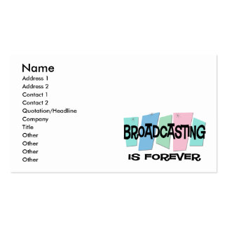 Broadcasting Is Forever Business Cards