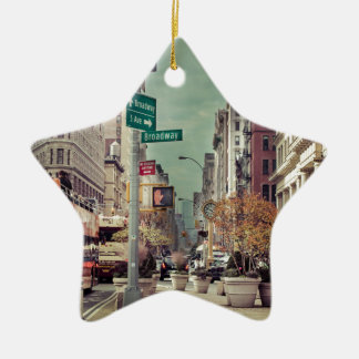 broadway ceramic ornament