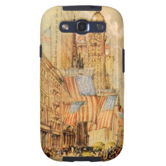 Broadway Election Day Flag New York City Vintage Samsung Galaxy S3 Cover