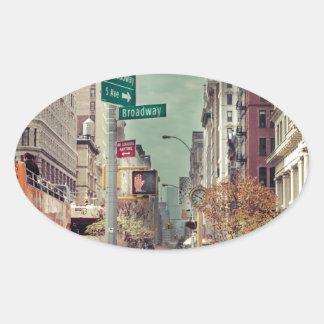 broadway oval sticker
