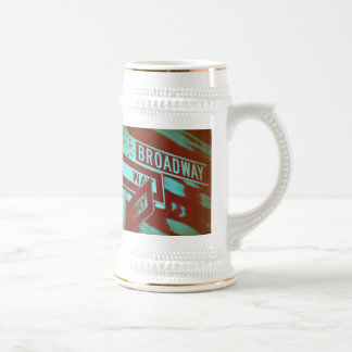 Broadway Sign Beer Stein