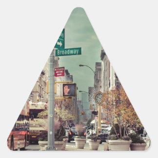 broadway triangle sticker