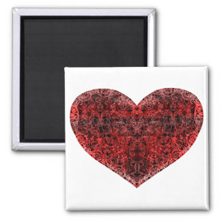 Brocade Heart Magnet