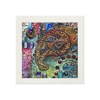 Brocade of Jewels Canvas Print