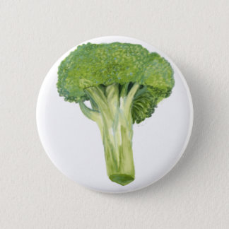broccoli 6 cm round badge