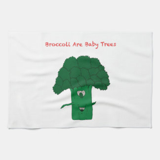 Broccoli are baby trees tea towels