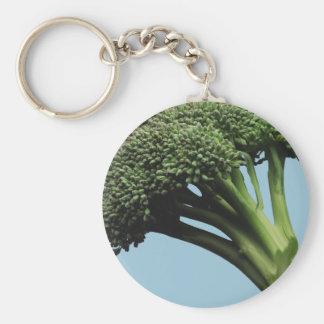 Broccoli Basic Button Keychain