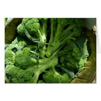 Broccoli Blank Card