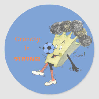 'Broccoli Bruno' Glossy Round Sticker
