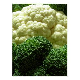Broccoli & cauliflower postcard