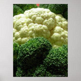 Broccoli & cauliflower poster
