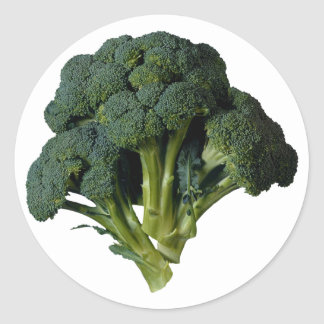 Broccoli Classic Round Sticker