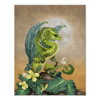 Broccoli Dragon 11x14 (4x6 and up) Poster
