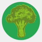 Broccoli Graphic Classic Round Sticker