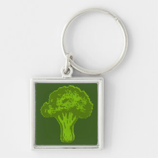 Broccoli Graphic Key Ring
