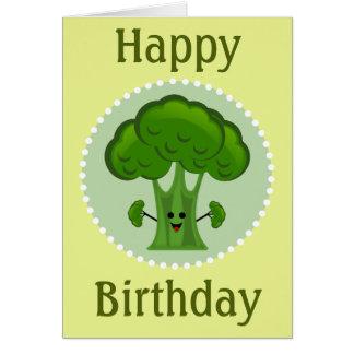 Broccoli Happy Birthday Card