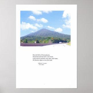 Broccoli Hills of Pennsylvania Poster