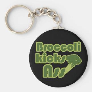 Broccoli Kick Funny Vegan Key Ring