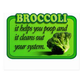 broccoli postcard