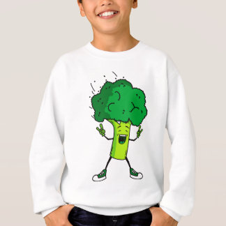 Broccoli rocks! Cool vegetable cartoon Sweatshirt