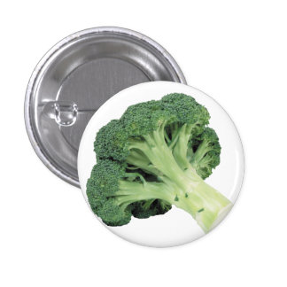 Broccoli Standard, 2¼ Inch Round Button