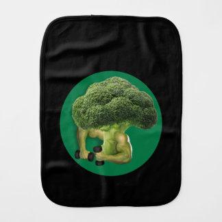 Broccoli Strong! Baby Burp Cloths