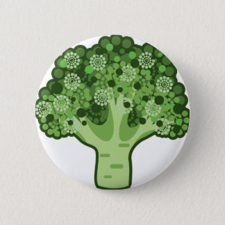 Broccoli Vector Icon 6 Cm Round Badge