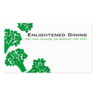 broccoli vegetable healthy dining gardening bus... pack of standard business cards