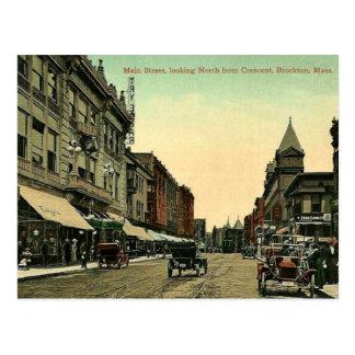 Brockton, Massachusetts, vintage 1910 postcard