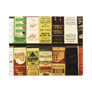 Brockton Matchbooks Stretched Canvas Print